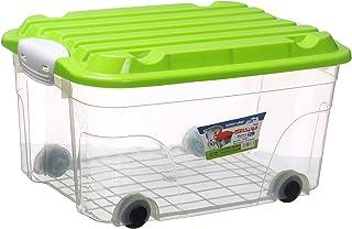 علبة مونيكا بلاستيك من خورشيد بلاست، 21 لتر - شفاف اخضر