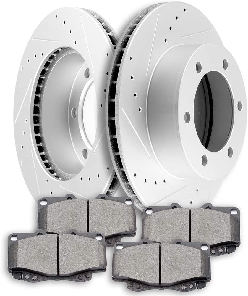 Brake Kits SCITOO Austin Mall Front Discs Rotors Max 54% OFF and fit Ceramic Pads