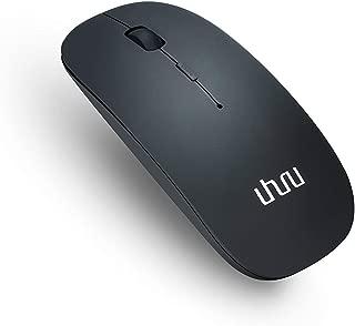 UHURU® 充電式/無線マウス/ワイヤレスマウス/ブルートゥース Bluetoothマウス 3.0/静音/800/1200/1600DPI【TELEC認証】タブレットMacや他のノートPCなど対応/(ブラック)