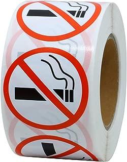Hybsk No Smoking Logo Warning Stickers 1.5