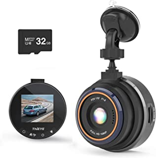 ThiEYE ドライブレコーダー 小型 ドラレコ 1080PフルHD 高画質 wifi搭載 24V対応 170度広角 駐車監視 Gセンサー WDR技術 エンジンと連動 車載カメラ 32GBカード付き 12ヶ月保証