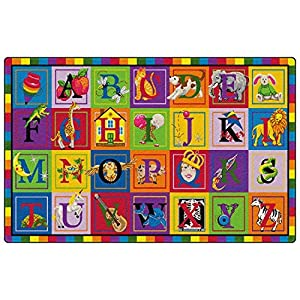ABC Blocks Kids Rugs Area Rug 5'10″x8'4″