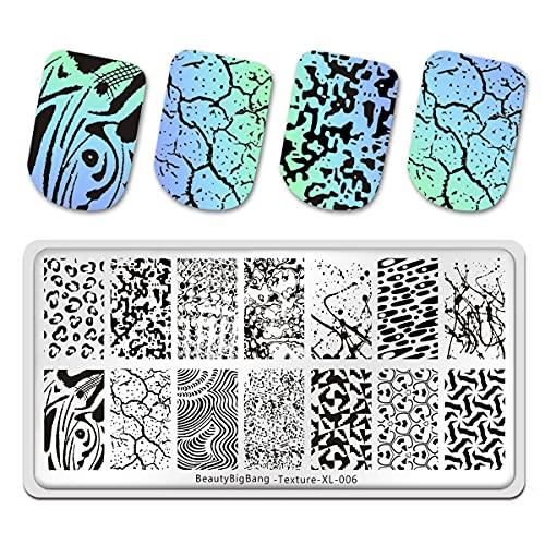 Mnrkaoic Nail Art Stamping Mode Pochoir Ongles Décoration Stickers Image de Bricolage Manucure Impression Plaque Outils de Pochoir