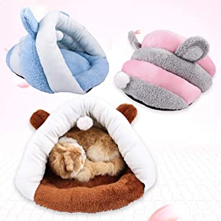 6SlonHyWinter Orejas Diseño Mascota Perro Gato Cachorro Cama de Felpa cálida cojín caseta Nido