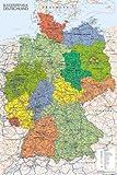 Maps - Germany Map - Landkarten Poster Karten - Grösse
