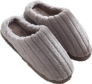 Jojsely56 Pantofole in Cotone di Nuovo Stile, Pantofole da Uomo in Caldo Cotone con Suola Spessa, Coppie Femminili, casa d...