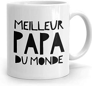 PassionWear MEILLEUR PAPA Du MONDE, Cadeau Papa, Tasse à café Papa, Cadeau Fête des..