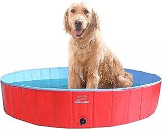 EXPAWLORER Foldable Dog Swimming Pool - Portable PVC Pet Bathing Tub for Outdoor Yard, Dog Whelping Box