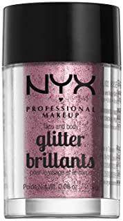 NYX PROFESSIONAL MAKEUP Face and Body Glitter, Rose