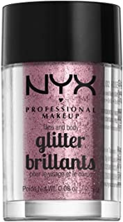 NYX PROFESSIONAL MAKEUP Face & Body Glitter, Rose, 0.08 Ounce