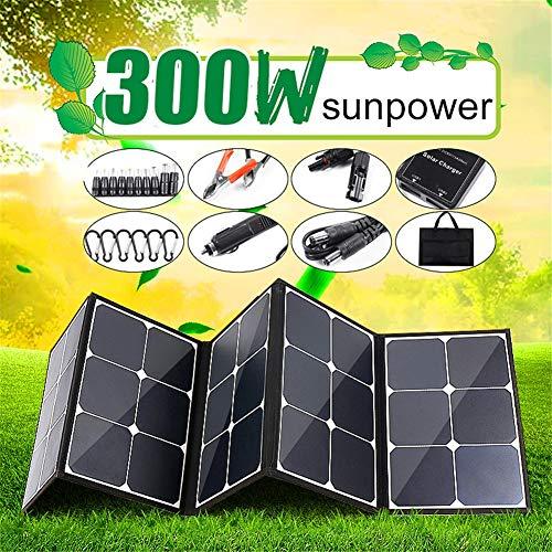 HMLIGHT 300W 18V Panel Solar portátil Plegable Plegable Impermeable del Cargador del Banco de la energía para la batería del teléfono Puerto USB para Exterior