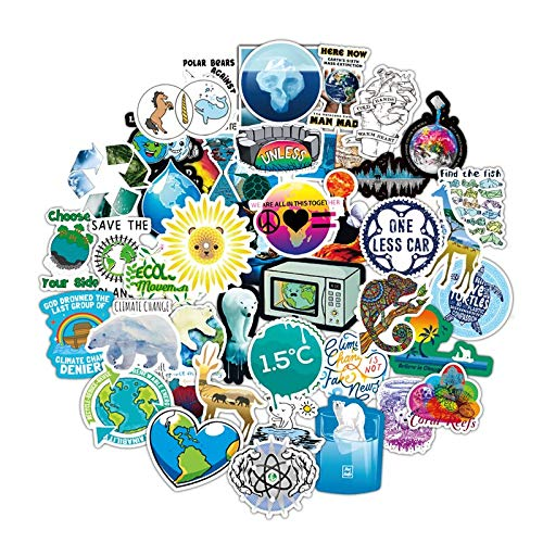 Outdoor Global Warming Stickers beschermen de aarde waterdichte Stickers om te Diy Auto Skateboard Sticker 50 Stks