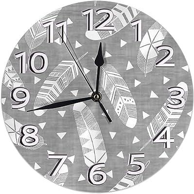 Myrna Kelse Road Maple Leaf Bike Reloj Colgante Reloj de Pared PVC ...