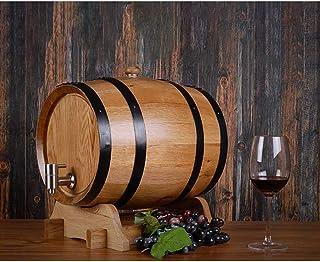 Chêne En Bois Durable Vintage Tonneau 3L / 5L / 10L Tonneau de Vin Vendange en Bois de Chêne Bois vin Barrel Distributeur,...