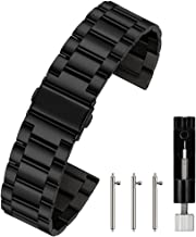 Berfine Quick Release Watch Strap,16mm 18mm 20mm 22mm 24mm Premium Solid Stainless Steel Watch Band Replacement