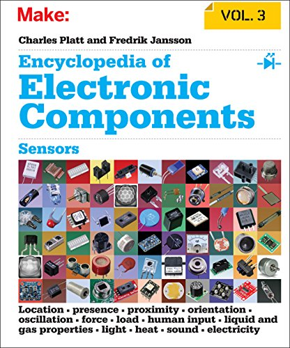 Make: Encyclopedia of Electronic Components Volume 3: Light, Sound, Heat, Motion, Ambient, and Electrical Sensors: Sensors for Location, Presence, ... Light, Heat, Sound, and Electricity) (Tapa blanda)