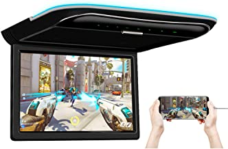 XTRONS 11.6 Inch Car Overhead Roof Mounted Monitor Screen Ultra-Thin Flip Down TV for Cars 1080P Car Video Player with Bui...