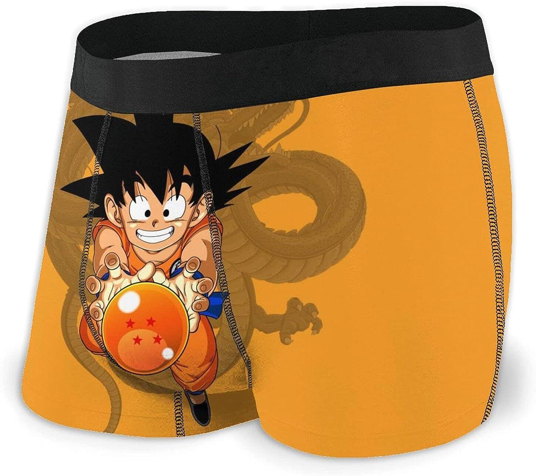 Anime Dragon Goku Men's Boxer Briefs Breathable Comfortable Soft Underwear for Men
