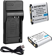 Battery (2-Pack) and USB Charger for Fujifilm FinePix J12, J15, J15fd, J25, J26, J27, J28, J29, J32, J35, J37, J38, J110W, J150W, J210, J250 Digital Camera