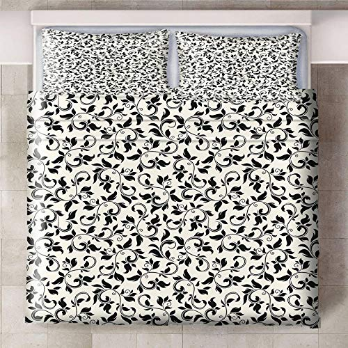 Teqoasiy - Ropa De Cama Infantil - Impresión Digital 3D Negro Creativo Abstracto 229x229cm 3 Piezas Suave Microfibra Juego De Funda Nórdica - con 2 Fundas De Almohada - Antialérgico Funda De Edredón