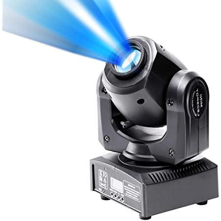U`King ステージライト 小型ムービングライト 七つゴボ 音声起動DMX512対応 10W高輝度led ボールライト ムービングヘッド パーティー ・ディスコ・DJ・舞台照明・レーザー 演出用ディスコライト