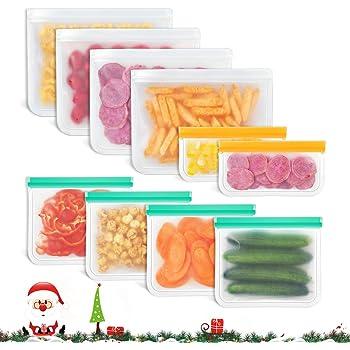 Verduras y Carne Sin BPA Bolsas de Conservaci/ón Congelar 12 Piezas GouBao Bolsas de S/ándwich Reutilizables Bolsa de Almacenamiento Sellada a Prueba de Fugas para Frutas Bolsas de Almuerzo Ziplock