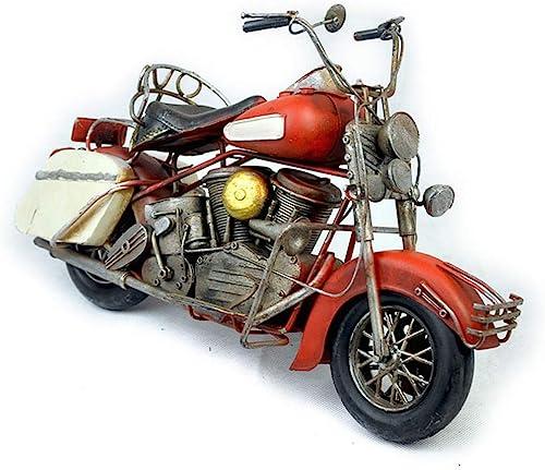 VJUKUB Antique Harley Moto Modèle Fer Hand Made Rétro Iron Art Home Voiture Décoration Décoration ArrangeHommest Photographie Props 36.5  17  21.5 Cm
