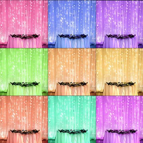 Guirnaldas Cortina de Luces Exterior Interior Led Decoracion Guirnalda Luces Decorativas Habitacion iluminacion blanca y colores Jardin Pared...