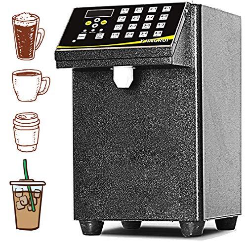 YJINGRUI Automatic Fructose Dispenser 8L Syrup Dispenser Machine 16 Groups 110V (Black)