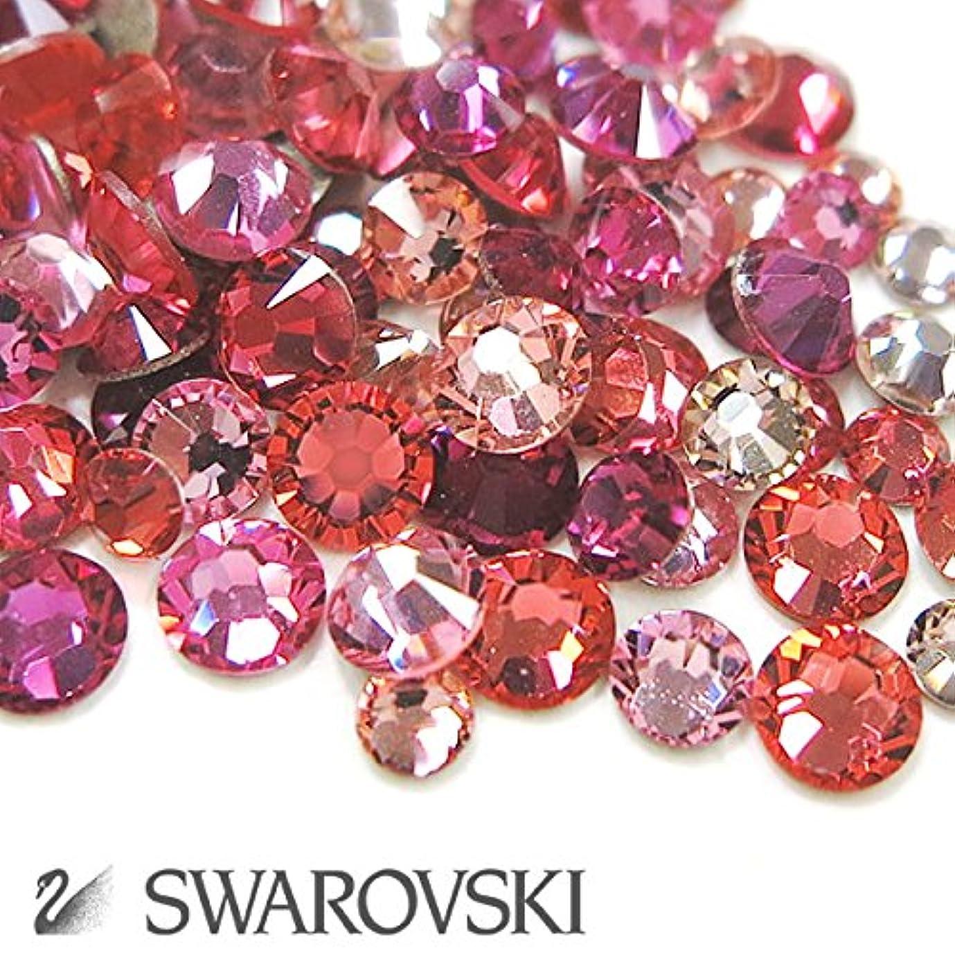 ギャラントリー訴える五スワロフスキー(Swarovski) クリスタライズ ラインストーン ネイルサイズMIX (100粒) ピンク