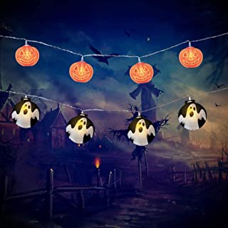 Halloween String Lights Outdoor Decorations 2 Pack 40LED String Lights Battery Operated Lights for Halloween Decorations Outdoor Indoor Party