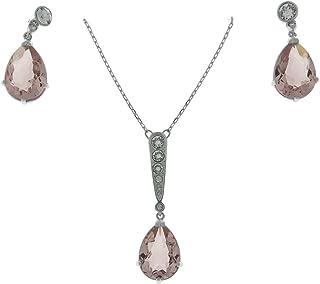 e266d5cd4 Swarovski Vintage Set Necklace Pendant & Earrings, Pink 5278350, ...