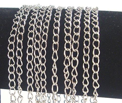 Perlin Gliederkette Link Kette Metallkette Schmuckkette 5mm Altsilber Meterware zur Schmuckherstellung von Halsketten Armband DIY Basteln K1