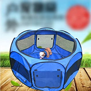 Pet Fence,Oxford Cloth Tent, Collapsible Portable Eight-Sided for Cat Large Backpack Small Cats Animals Handbags Travel Airline Bag Safe