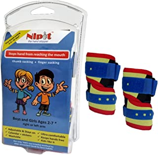 [2-Pack] (Age 2-7) NIPIT Thumb Sucking Stop for Kids and Stop Finger Sucking - Prevent Hand-to-FACE Habits with NIPIT Hand...