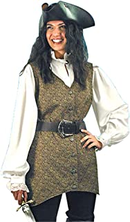 Museum Replicas Pirate Clothing for Women - Mary Read Pirate Vest - L/XL - Halloween Costume