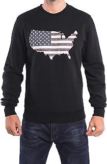 Bulouin Men's Long Sleeve Fleece Pullover Crewneck Sweatshirt 3D Printed American Map Hoodie