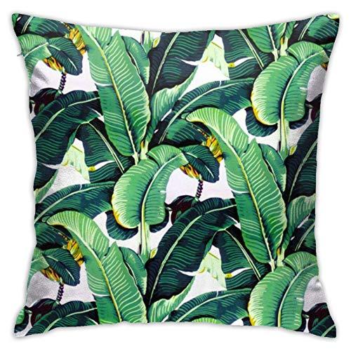 Hangdachang - Fundas de almohada de lujo para ropa de cama, salón, sofá, sofá, cuadrado, diseño de pingüino