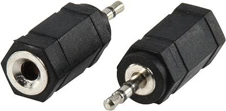Valueline AC-018 - Adaptador de audio Estereo Jack 3.5mm Hembra a Jack 2.5mm Macho (Negro)