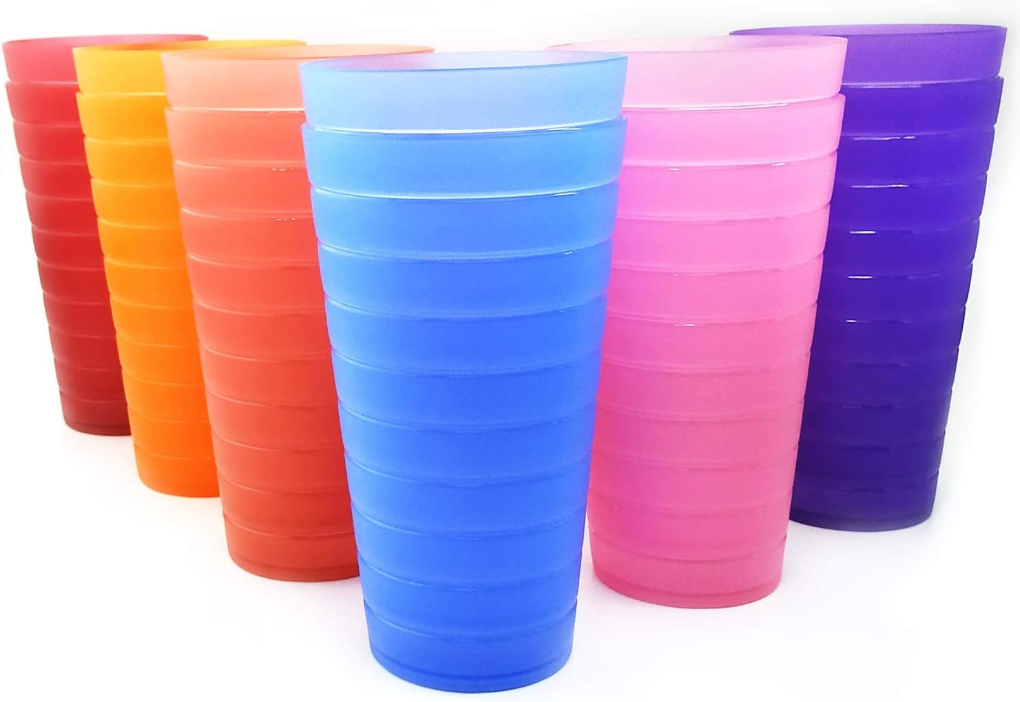 All stores are sold Unbreakable 32-ounce Plastic Tumbler Drinking 12 2021 new Glasses Set of