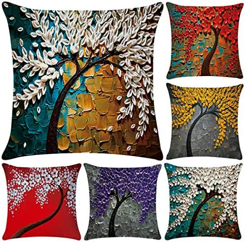 Best Polyester Throw Pillow Case Cushion Cover Home Sofa Decorative (Cover Only,No Insert)(18x18 inch/ 45