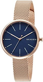 [スカーゲン]SKAGEN レディース シグネチャー ネイビー文字盤 ローズゴールド SKW2593 腕時計 [並行輸入品]