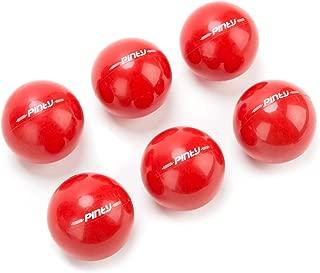 Pinty Baseball and Softball Practice Training Balls, 16oz Weighted Baseballs/Softballs, 6-Pack, PVC Shell, Iron Sand Filling