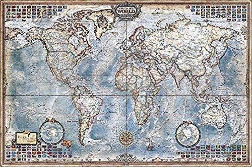 Aixmuy Puzzles Rompecabezas para Adultos 1000 Piezas - Rompecabezas De Madera Clásicos Arte Educativo Decoración Juego Regalo Mapa Vintage