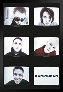 Pyramid America Radiohead TVs Black Wood Framed Poster 14x20