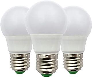 Bombilla LED E27 Edison, 3W (30W), Bombilla de Globo A50 GLS, 12V Bajo Voltaje, Ideal Para Iluminación Solar Fuera de La Rejilla, Iluminación de Interior de Barco, Caravana, Blanca Cálida, Pack de 3