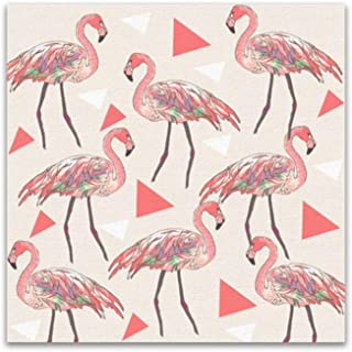 Galería de regalos Pink Flamingo Love Canvas Painting Girl Living Room Decoration Flamingo Wall Art Poster Beautiful Dream-50x50cmx1pcs- Sin marco