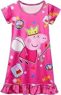 Moebao Little Girl Cartoon Loose Comfortable Print Princess Nightdress 3~8 yeas