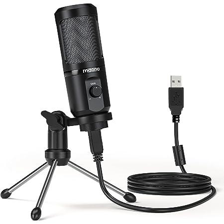 MAONO マイク コンデンサーマイク USBマイク PC マイク パソコンマイク 単一指向性 高集音力 音量調整可能 マイクスタンド付属 会議 在宅勤務 配信 生放送 YOUTUBE ゲーム実況用 Windows/Mac/PS4に対応(AU-PM461TR)