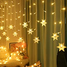Luzes de cortina de floco de neve, luzes de LED de Natal para janela, cordão de fada à prova d'água, decoração de Natal, 4...